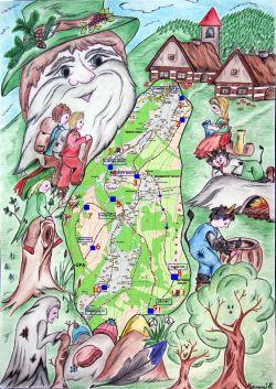 Mapa trasy pohádkové stezky